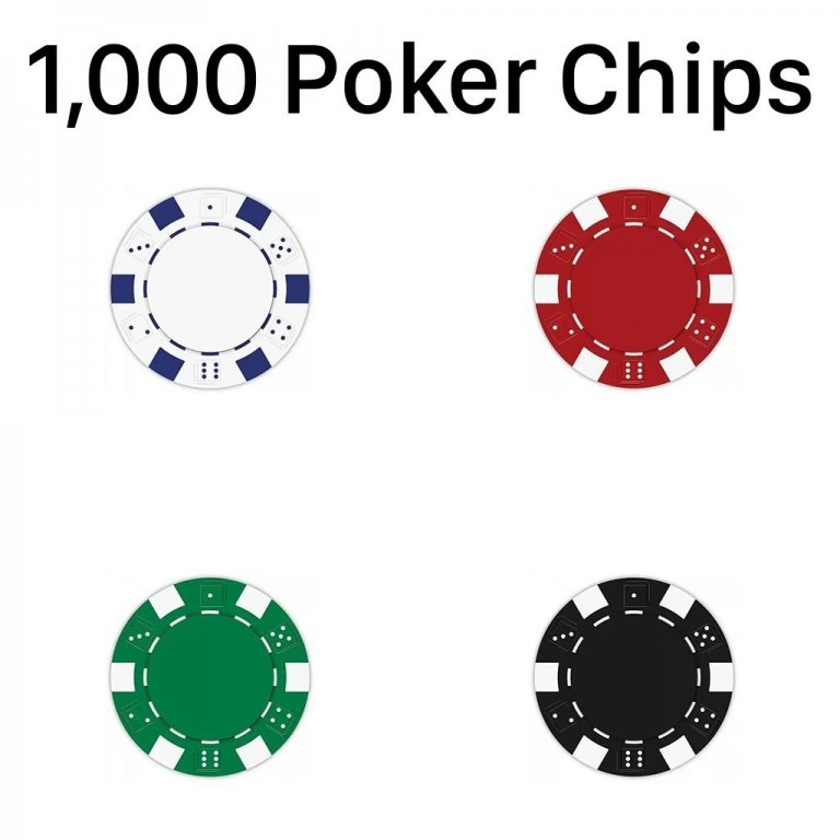 1000 Striped Dice Poker Chips