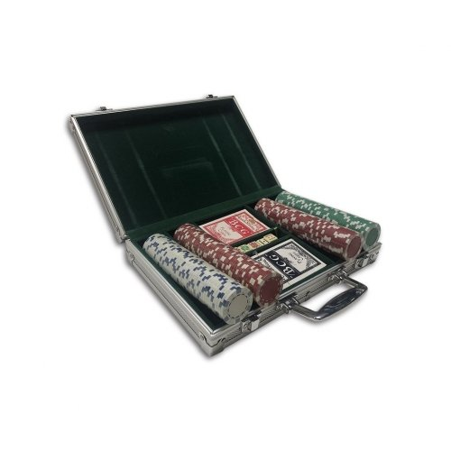 200ct Striped Dice Poker Chips