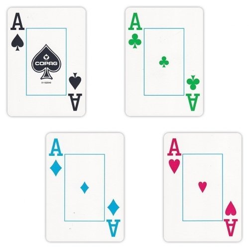 4 Color Index Playing Cards