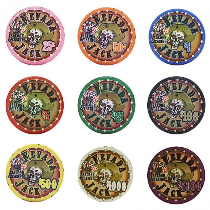 Nevada Jack Poker Chips