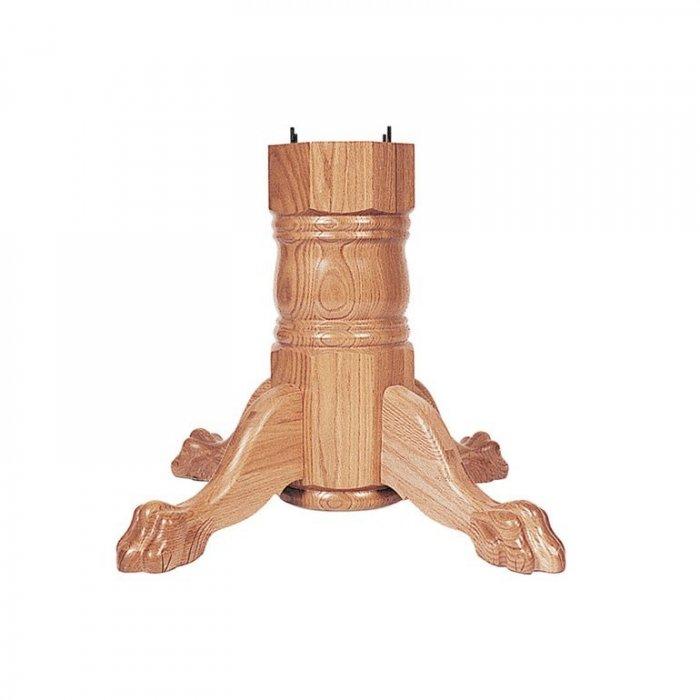 Wood Pedestal Base