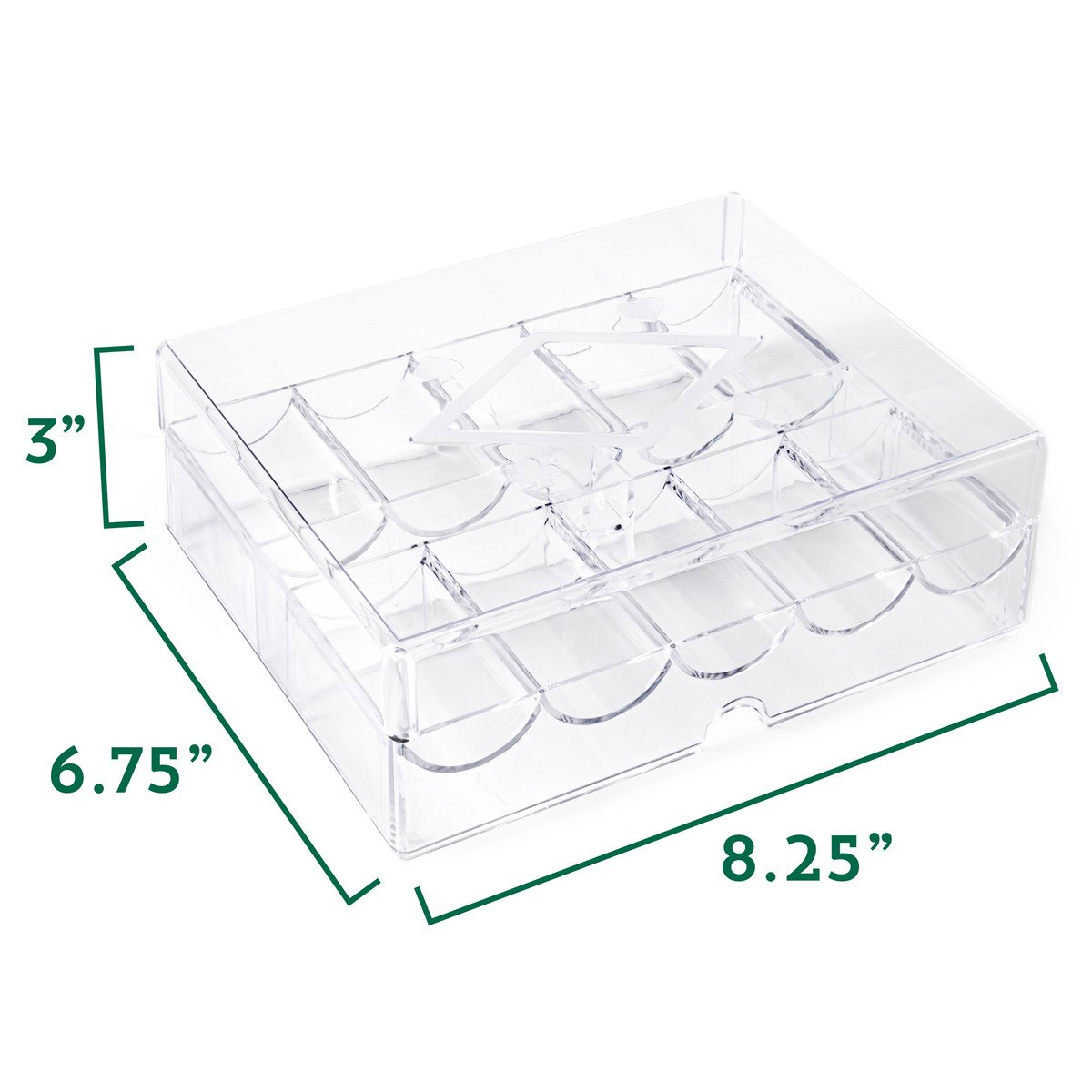 Acrylic Tray 200 ct Lid