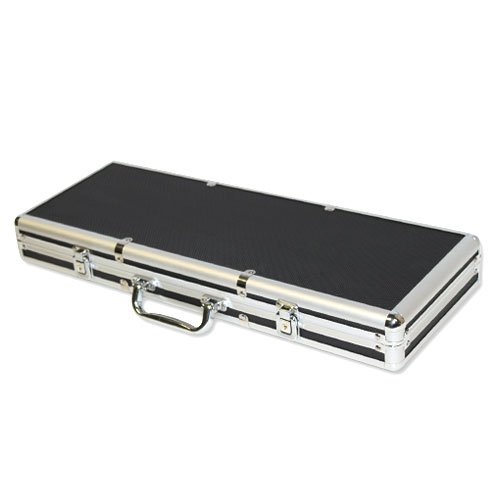 Black Aluminum Poker Chip Case