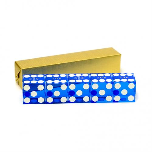 Blue Casino Serialized Dice