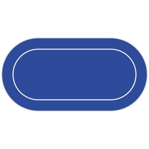 Blue Texas Holdem Rubber Backed Layout