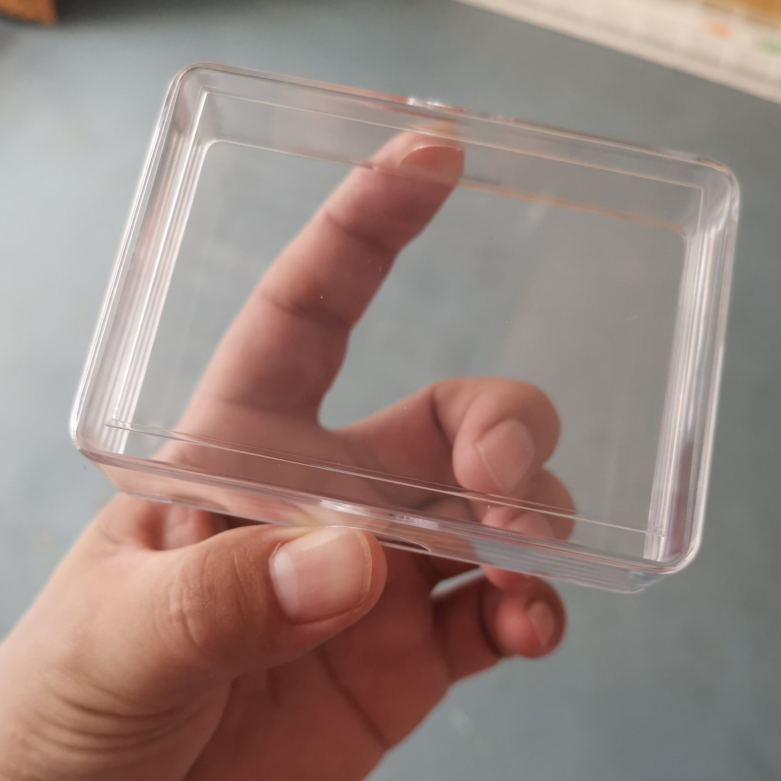 Clear Plastic Card Box
