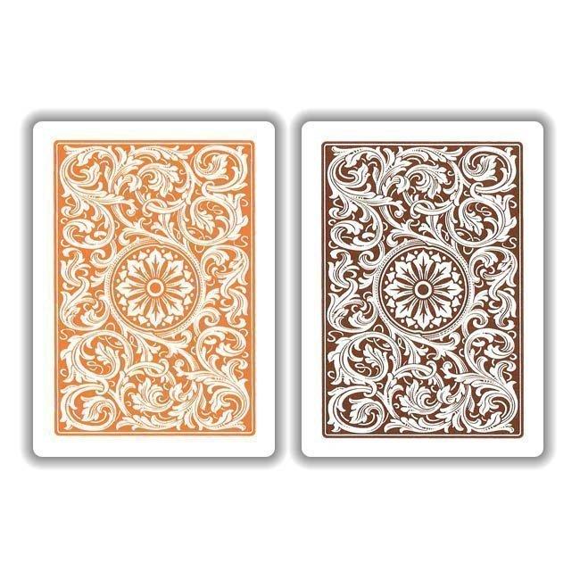 Copag 1546 Orange Brown Playing Cards