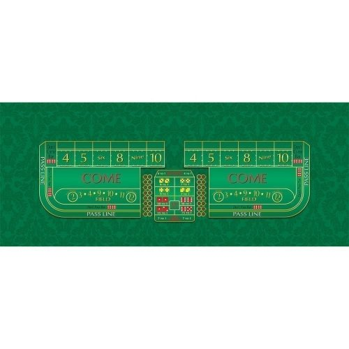 Craps Gaming Suede Layout