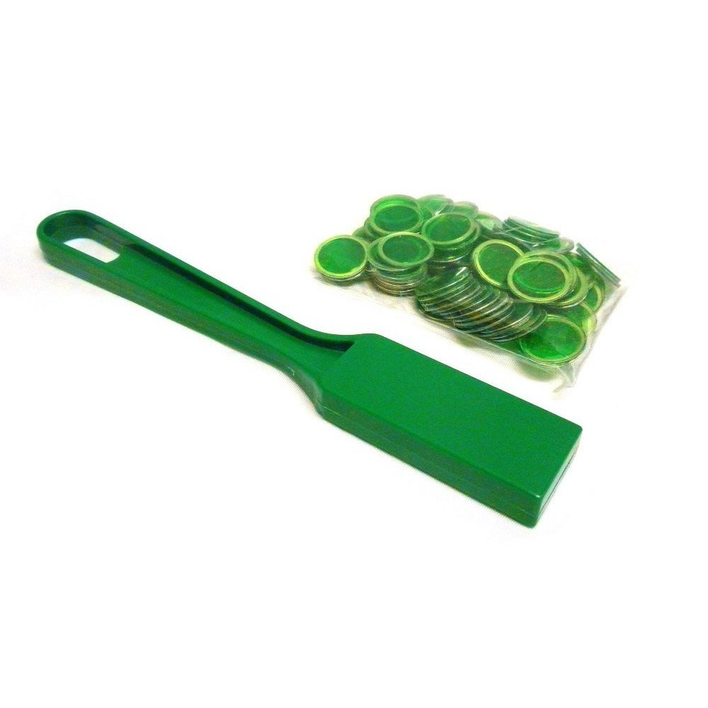 Green Magnetic Bingo Wand and Chips