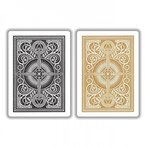 KEM Arrow Black Gold Playing Cards