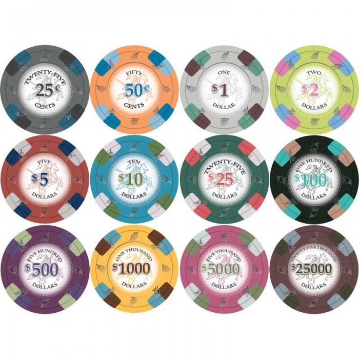 Knights poker chips