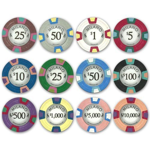 Milano clay poker chips
