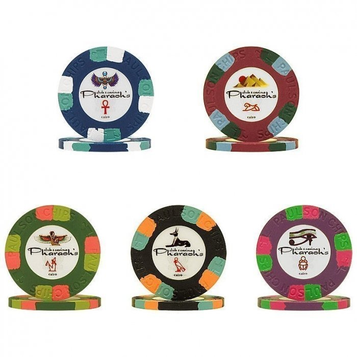 Paulson Pharaoh NCV Poker Chips