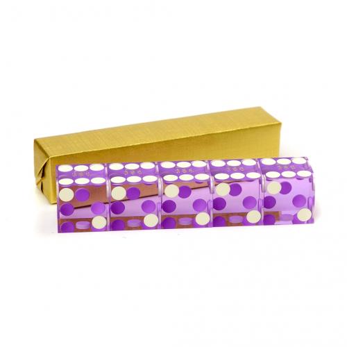 Purple Serialized Casino Dice