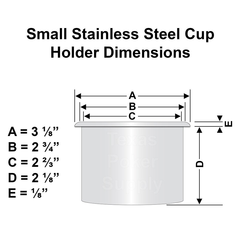 Small Stainless Steel Cup Holder Dimensions